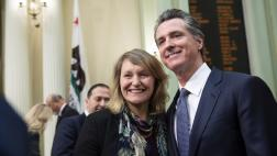 Assemblymember Wicks at State of the State with Governor Newsom